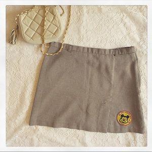 Vintage Espirit Houndstooth Patch Miniskirt